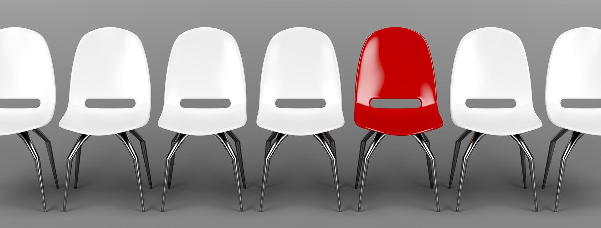 Unique red chair